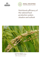 Nutritional sufficiency of the national food production system - image