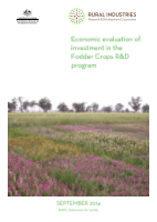 Economic Evaluation of Investment in the Fodder Crops R&D Program - image
