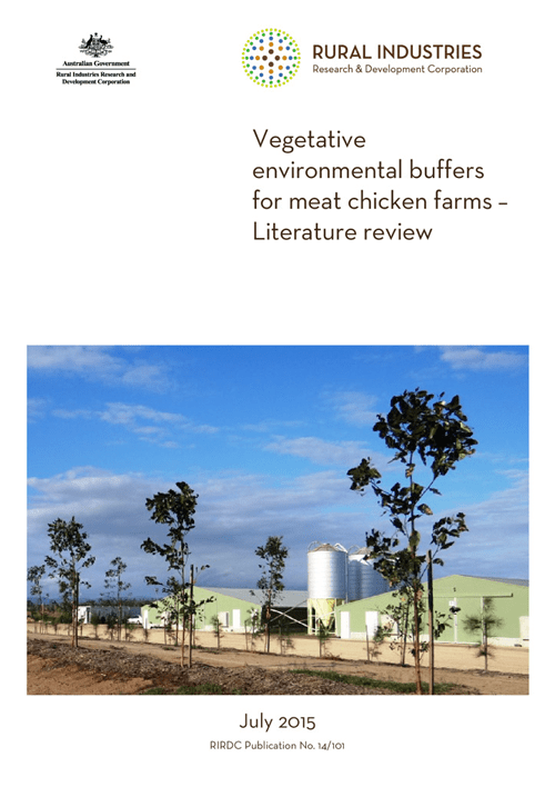 Vegetative environmental buffers for meat chicken farms - image