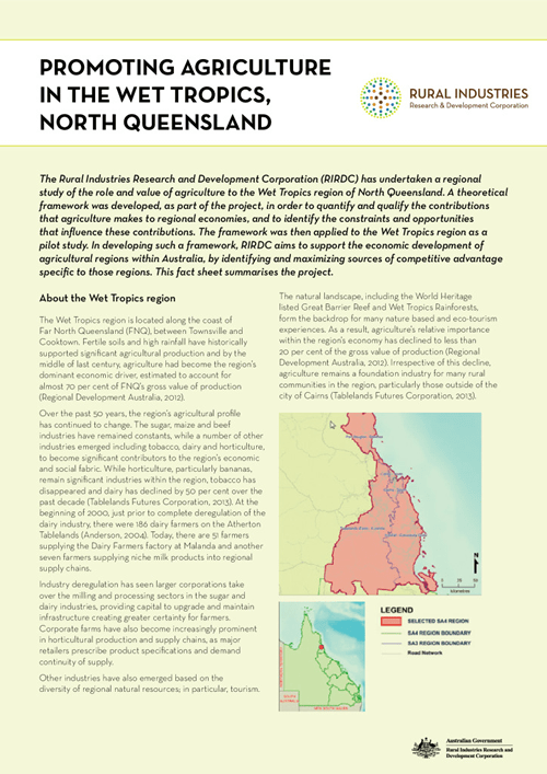 Promoting Agriculture in the Wet Tropics, North Queensland - image