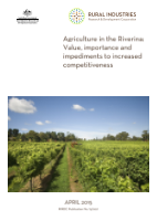 Agriculture in the Riverina: Value, importance and impediments to increased competitiveness - image