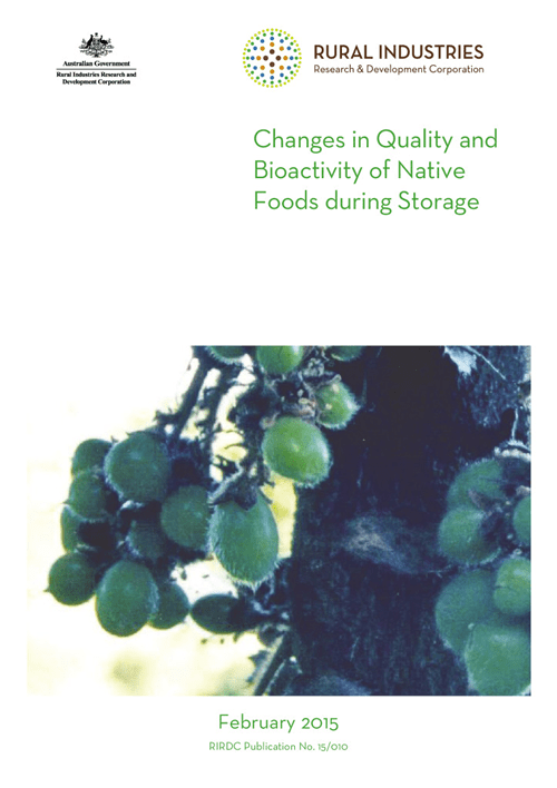 Changes in quality and bioactivity of native foods during storage - image