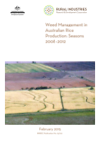 Weed management in Australian rice: seasons 2008 – 2012 - image