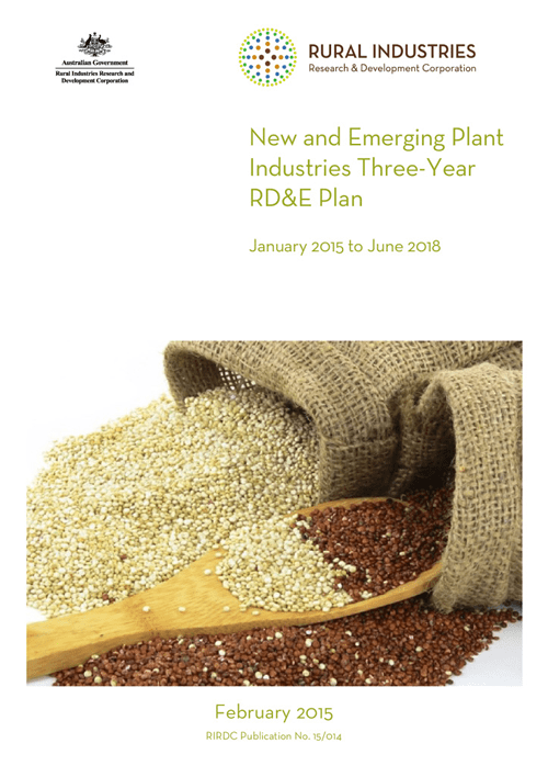 New and emerging plant industries three-year RD&E plan: January 2015 to June 2018 - image