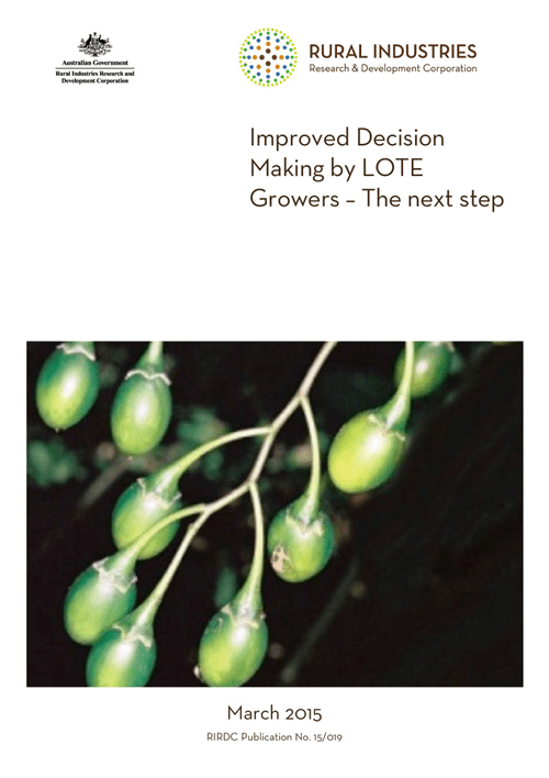 Improved decision making by LOTE growers - image