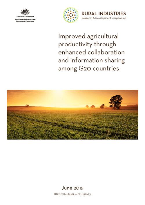 Improved Agricultural Productivity through enhanced collaboration and information sharing among G20 countries - image