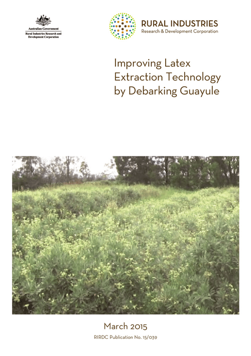 Improving latex extraction technology by debarking guayule - image