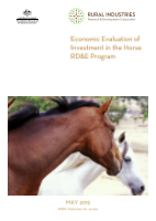 Economic Evaluation of Investment in the Horse RD&E Program - image