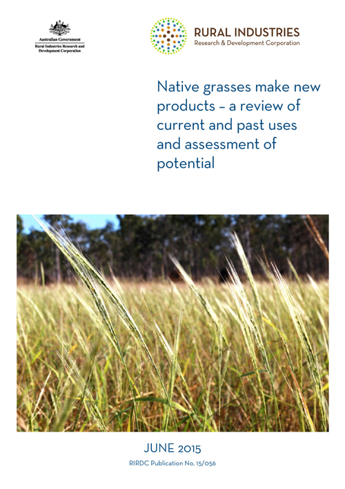 Native grasses make new products - a review of current and past uses and assessment of potential - image