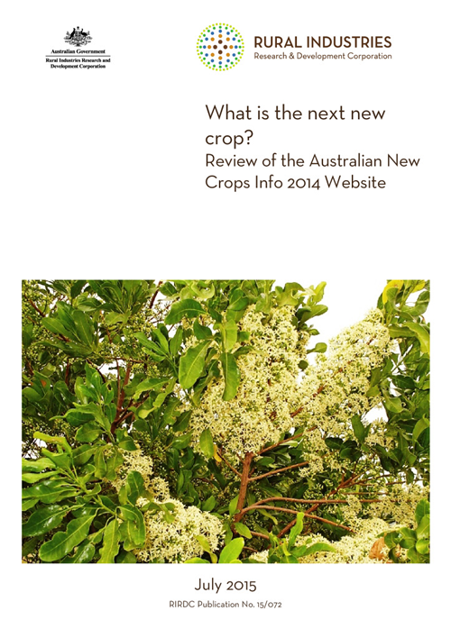 What is the next new crop? Review of the Australian New Crops Info 2014 Website - image