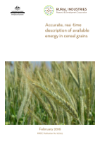 Accurate, real-time description of available energy in cereal grains - image