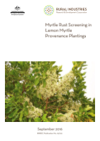 Myrte Rust Screening in Lemon Myrtle Provenance Plantings - image