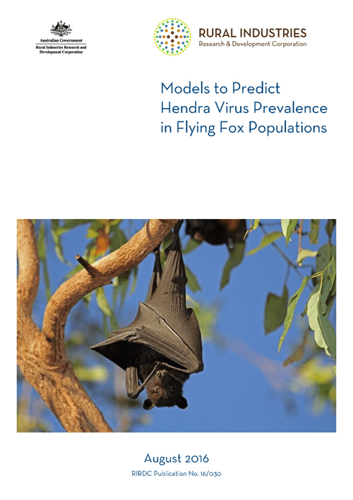 Models to predict Hendra Virus Prevalence in Flying Fox Populations - image