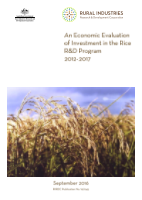 An Economic Evaluation of Investment in the Rice R&D Program - image