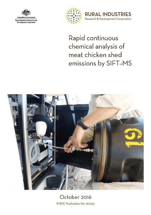 Rapid continuous chemical analysis of meat chicken shed emissions by SIFT–MS - image