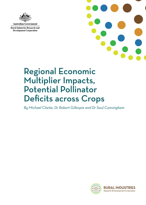 Regional Economic Multiplier Impacts Potential Pollinator Deficits across Crops - image