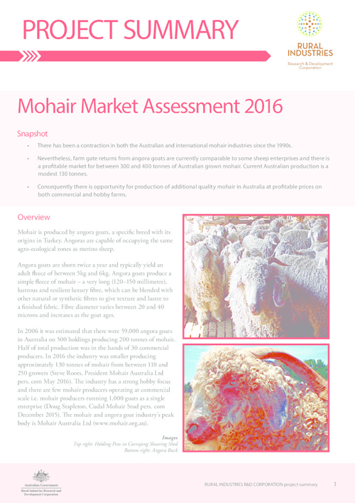 Project Summary: Mohair Market Assessment 2016 - image