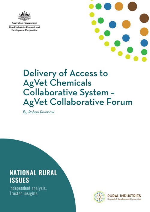 Delivery of Access to AgVet Chemicals Collaborative System – AgVet Collaborative Forum - image