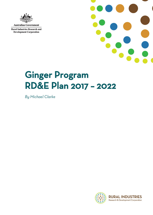 Ginger Program RD&E Plan 2017 – 2022 - image
