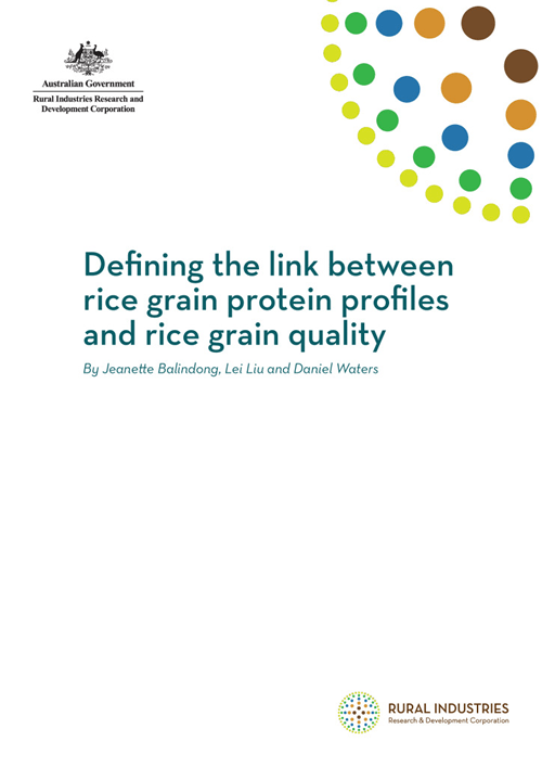 Defining the link between rice grain protein profiles and rice grain quality - image