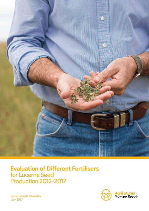 Evaluation of Different Fertilisers for Lucerne Seed Production 2012-2017 - image